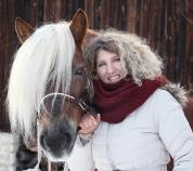 Das bin ich - Sandra Luber - mit Haflinger Hengst Stoffl